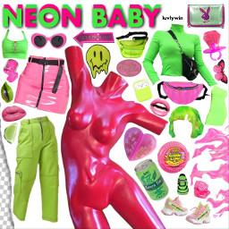 freetoedit nichememe neon moodboard grunge