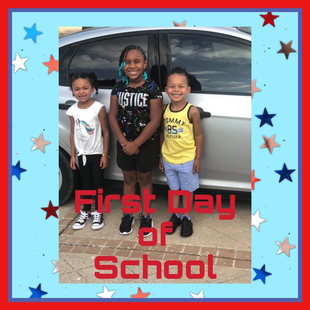 #firstdayofschool #2019 #kids #myangels #love #siblings #avery #aries #armani #stars #car #amazing  #freetoedit
