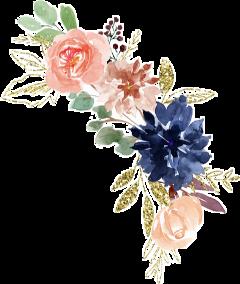 watercolor flowers floral arrangement bouquet freetoedit