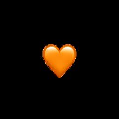 orange heart real emoji iphone freetoedit