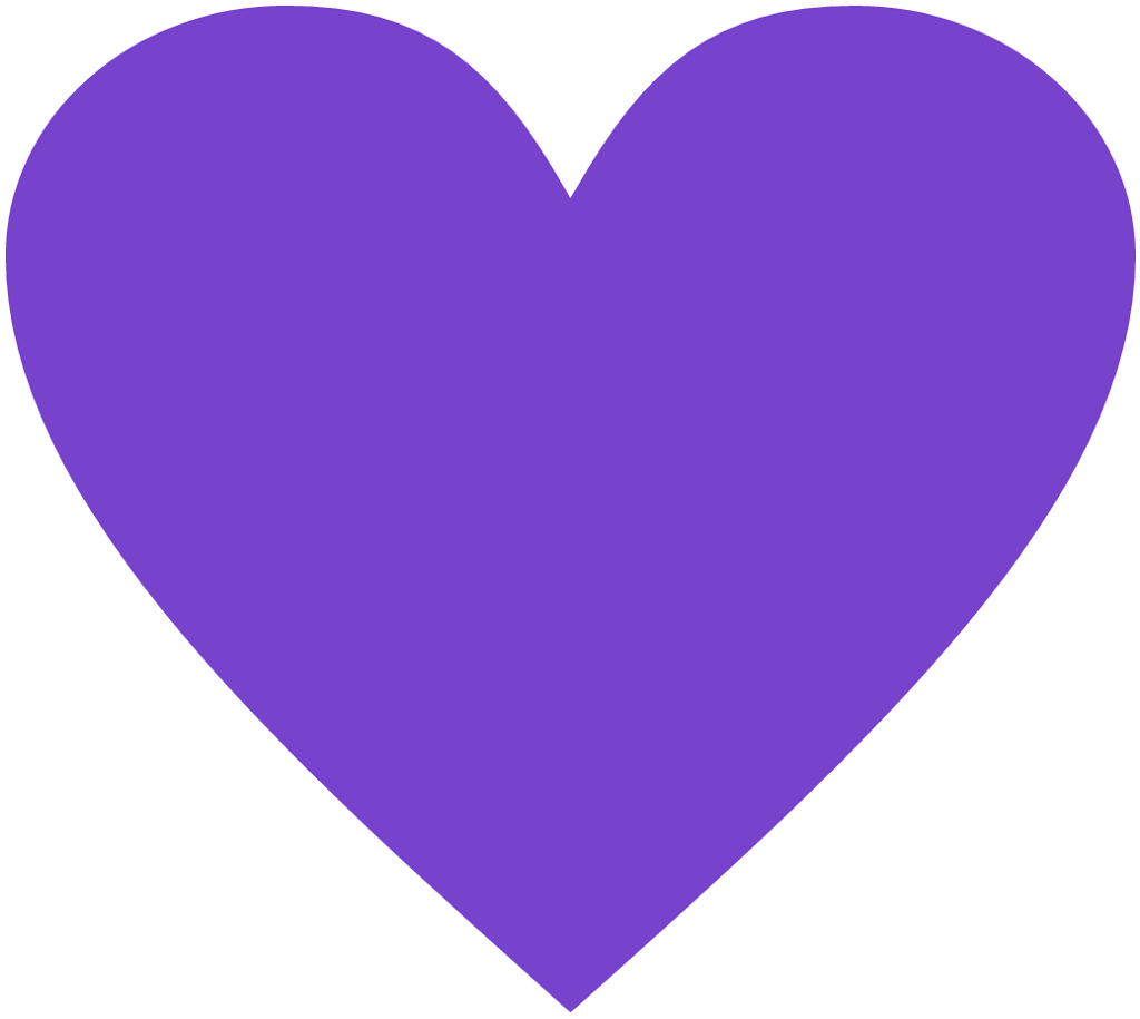 #sticker #heart #purpel