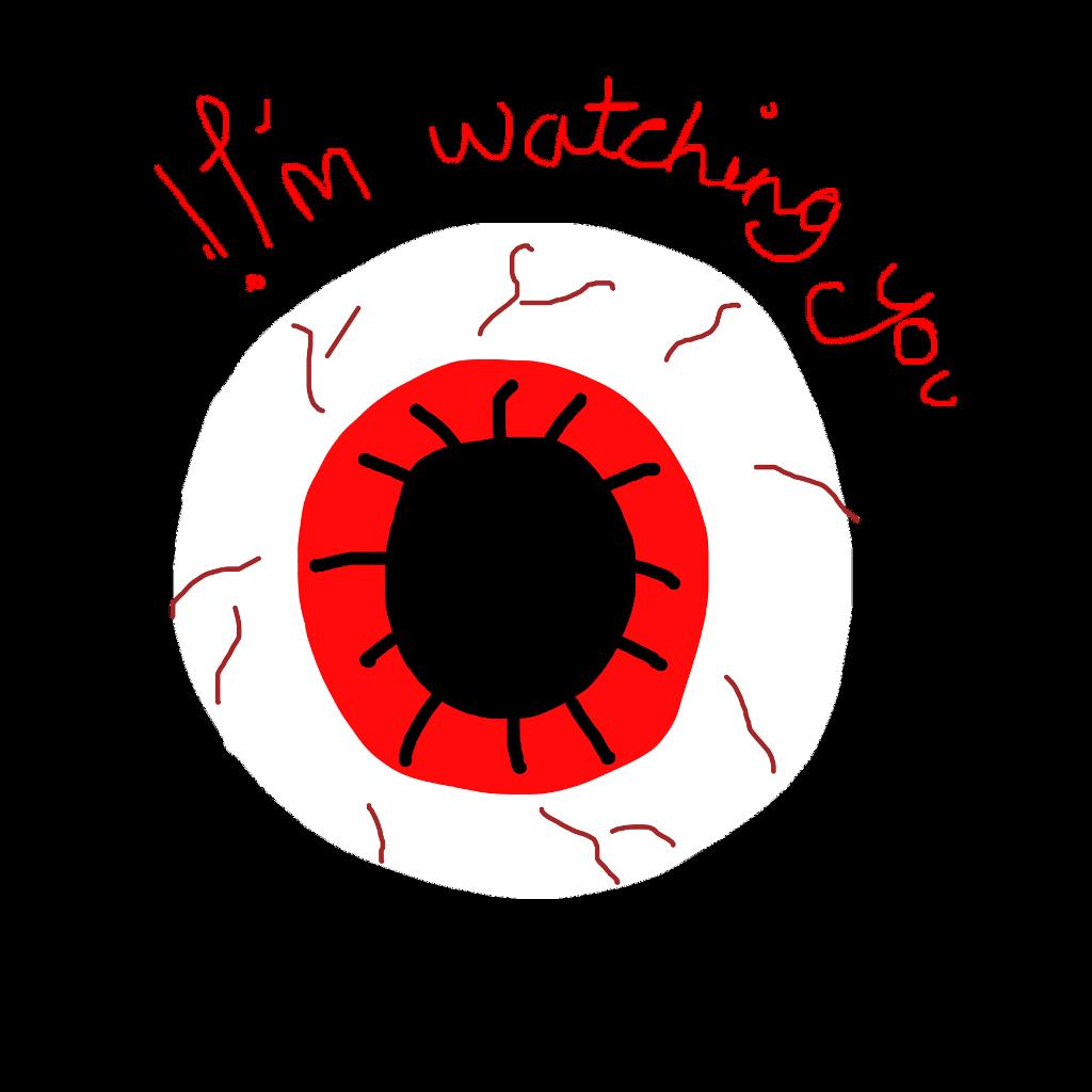 #im watching you #eye #creepy #creepy eye #creepyeye #imwatchingyou #freetoedit