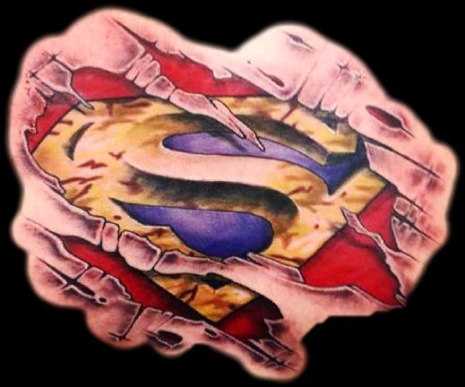 #3d #superman #chest #tattoo