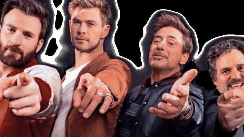Sticker #avengers #marvel #mcu #marvelcast #chrisevans #chrishemsworth #robertdowneyjr #markruffalo #captainamerica #thor #ironman #hulk #freetoedit