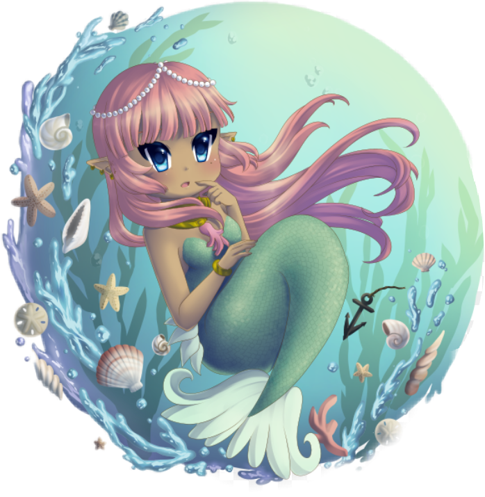 #anime #mermaids #seashell