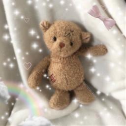 rainbow kawaii cottagecore teddybear lovecore freetoedit
