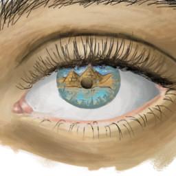 dcoasisinthedesert oasisinthedesert realisticdrawing eyeart art freetoedit