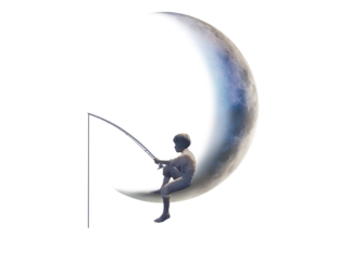 dreamworks boyfishingonthemoon boy fishing moon freetoedit