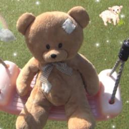 freetoedit notmypic angelcore angel teddybear