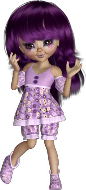 #kid #girl #cute #purple #doll #dool