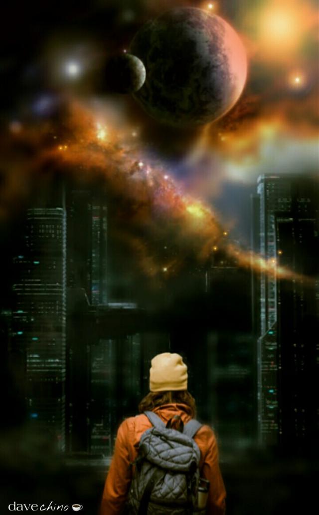 #city #building #outerspace #planet #girl #wanderer #madewithpicsart @freetoedit @picsart #conseptual #surreal #surrealistic #surrealism #be_creative #myart #myedit