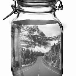 jar road landscape surealism