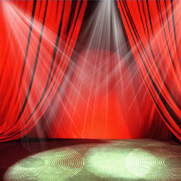 stage red curtains light effect freetoedit