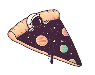 galaxy funny pizza astronaut freetoedit