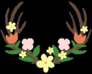 flowers deerantlers freetoedit