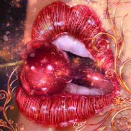 lips redlips red lipstick effect