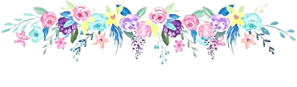 watercolor flowers floral bouquet header footer divider...