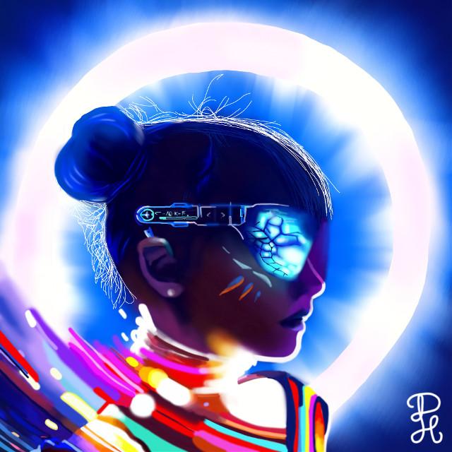 💝⚜️💠Thank you so much for 10K followers💠⚜️💝    #freetoedit #neon #art #neonpop #portrait #portraitart #10k #remixit #picsart #night #people #colorful #artist #artistic #artoftheday