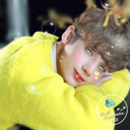 hueningkai yellow bubbles heart ibispaint