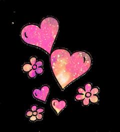 ftestickers glitter sparkle galaxy flowers freetoedit