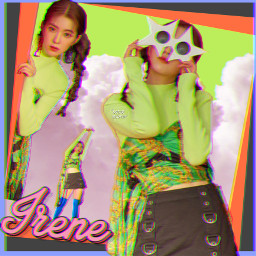 irene redvelvet colorful kpop neon freetoedit