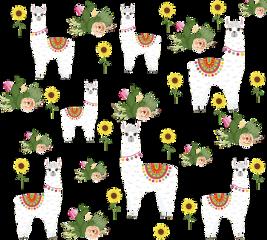 alpaca cactus sunflower background cute freetoedit