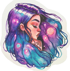 galaxyhair universe cute newsticker freetoedit