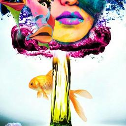 freetoedit colorexplosion fish colorsplash
