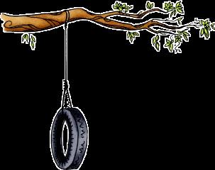 ftestickers tree swing wheel trees freetoedit