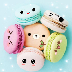 freetoedit macarons kawaii rilakkuma cute