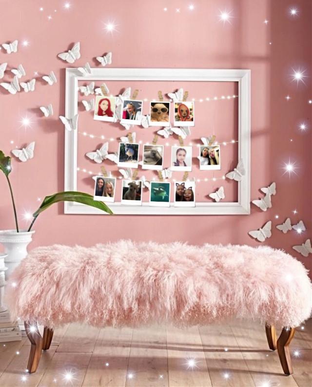 #pink #bedroom #photos #lights #sparkles  #freetoedit
