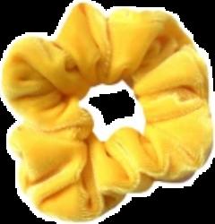 yellow scrunchie vsco tumblr freetoedit