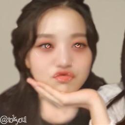 wonyoung izone manipulation pink beige