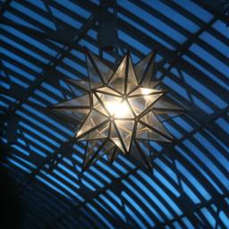 light star blue nightphotography sharp freetoedit