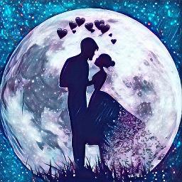 freetoedit moon hearts corazones picsart day ecohmyheart