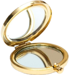 mirror goldaesthetic compact vintage gold freetoedit