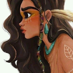 freetoedit warriorwoman indian beautiful cute
