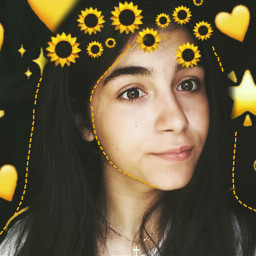 freetoedit yellowaesthetic sunflowers🌻💛🌻 summertime fotoedit srcsunflowerselfie