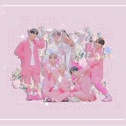 bts kpop pastel pink boywithluv