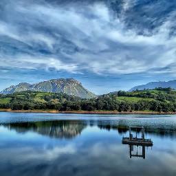 asturias hdr photography landscape reservoir freetoedit