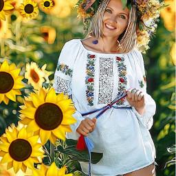 srcsunflowerselfie sunflowerselfie freetoedit