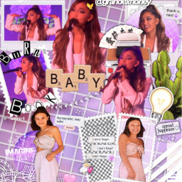 arianagrande millie collaboration aesthetic pink freetoedit