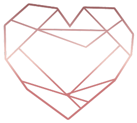 love heart triangle glitter rosegold freetoedit