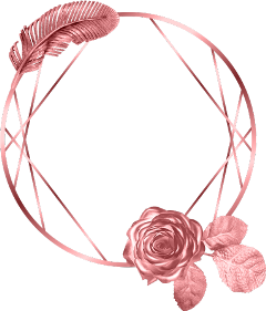 circle leaf rose frame rosegold freetoedit