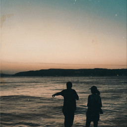 madewithpicsart twilight silhouettes seaside sea