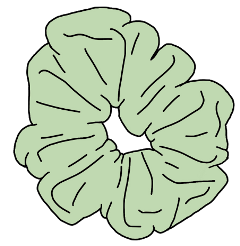 scrunchie vsco green freetoedit