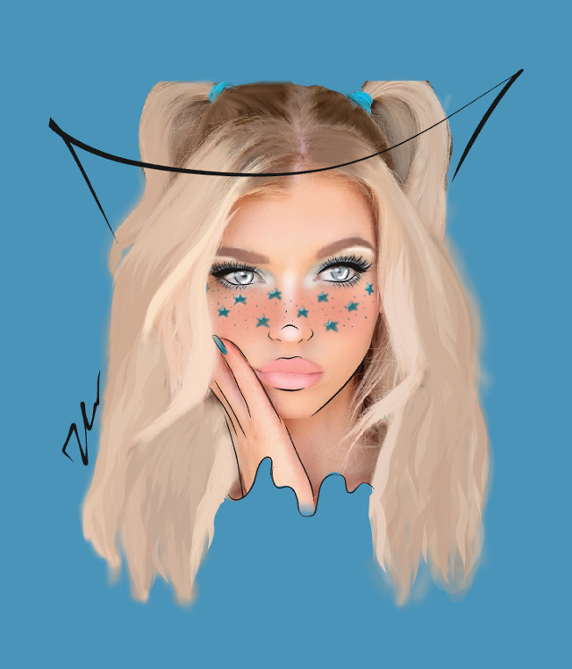 Outline of Loren!!! I tried to do another stile and I love it!!! What do you think of this??? Lysm🖤 @lorengray_