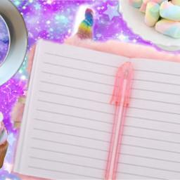 freetoedit unicorn galaxy diary
