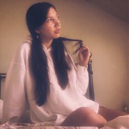 girl hoodie hoodiegirl longhair longhairdontcare freetoedit