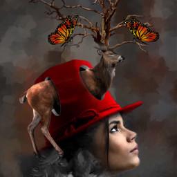 freetoedit deer fantasy art myedit